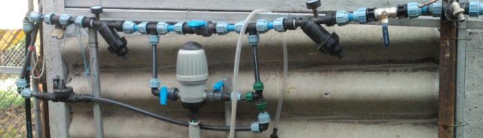 Устройство инжектора для капельного полива