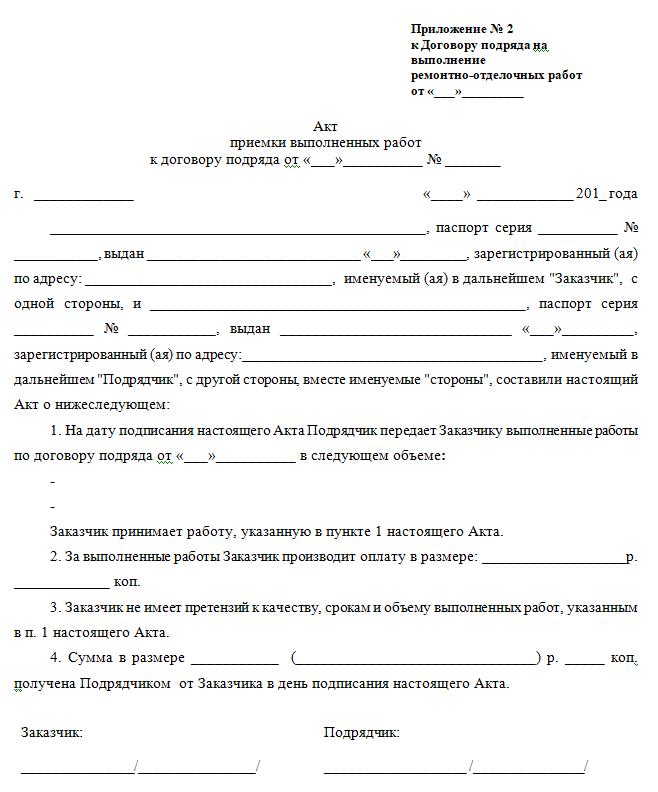 Договор подряда между юридическими лицами с материалами исполниетля