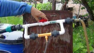 Система полива с одновременным внесением органических удобрений. Хозяйство Виктора Вовка.