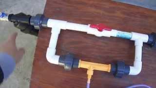 Как установить инжектор вентури